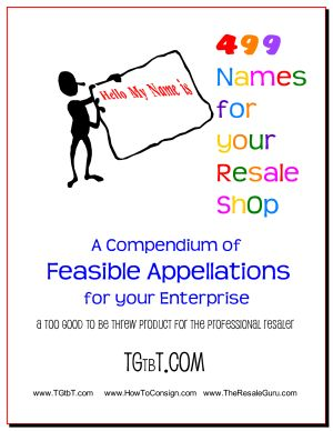 499 Names for your Resale or Consignment Shop