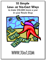 Make $10,000 more a year in your resale shop